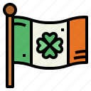 country, flag, ireland, patrick, saint icon