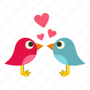 bird, heart, holiday, love, pink, sing, valentine icon