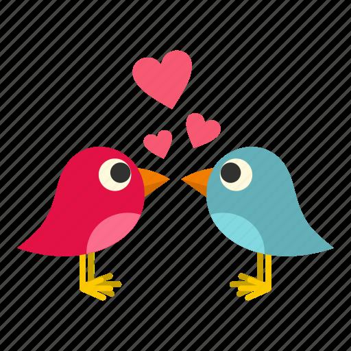 bird, heart, holiday, love, pink, sing, valentine icon