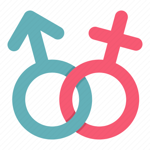 female, gender, heterosexual, male, pink, sex, women icon
