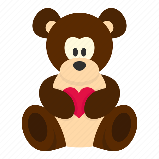 bear, cute, day, heart, love, teddy, valentine icon