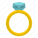 diamond, engagement, love, ring, romance, valentine, wedding icon