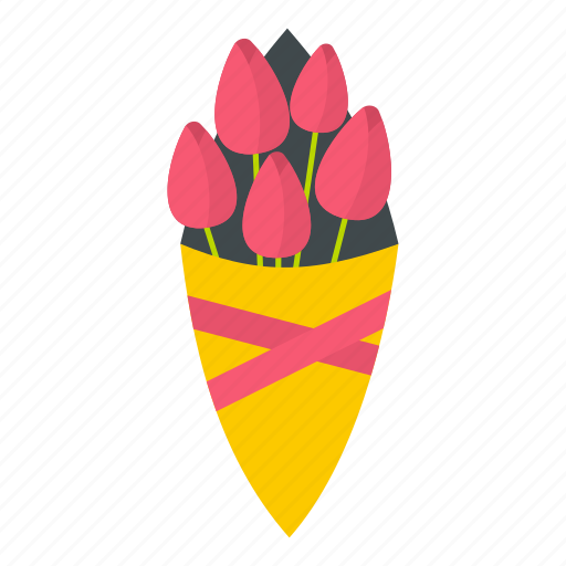 blossom, bouquet, flower, nature, pink, spring, tulip icon