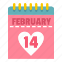 calendar, desk, event, heart, tanding, valentine, week icon