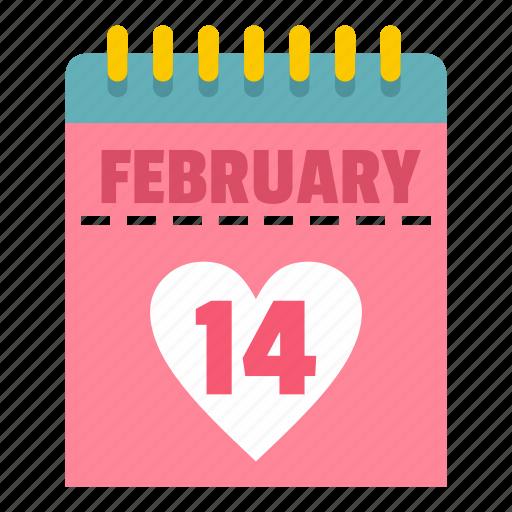 calendar, desk, event, heart, tanding, valentine, week icon