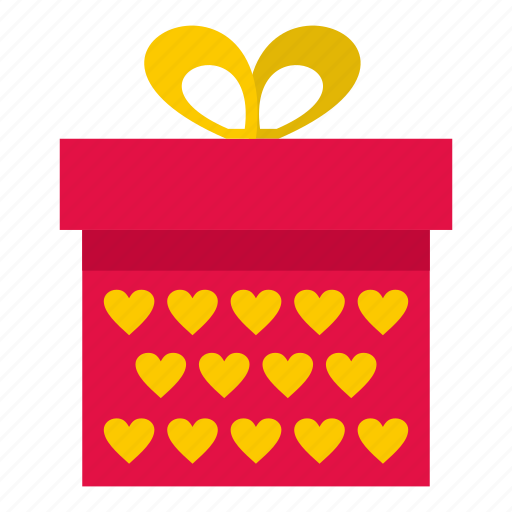 box, decoration, gift, heart, love, present, valentine icon