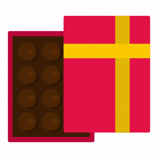 box, candy, chocolate, dessert, food, gift, sweet icon