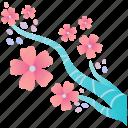 cherry blossom, flower, japanese, pink, sakura, spring icon