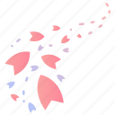 cherry blossom, flow, japanese, leaves, sakura, spring, wind icon