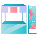 booth, cherry blossom, fair, festival, japanese, sakura, spring icon