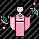 cherry blossom, festival, japanese, kimono, sakura icon