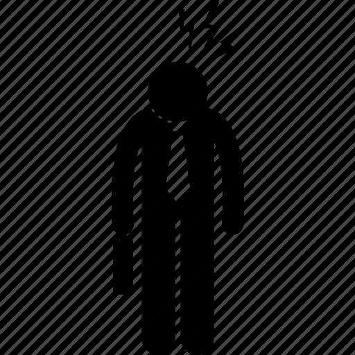 Depress, headache, pain, pressure, stress, stressful, worker icon - Download on Iconfinder