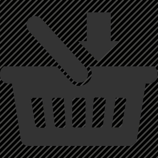 arrow, basket, buy, cart, shop icon