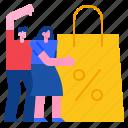shopping, sale, promotion, marketing, discount, shoppingbag icon