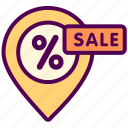 discount, map, online, sale, sales, shop icon