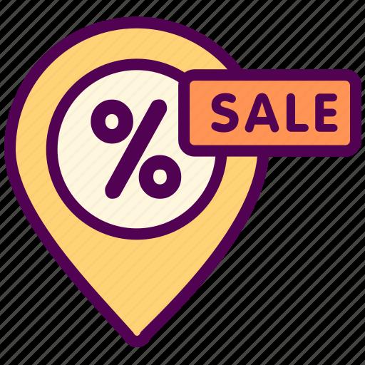 discount, map, online, sale, sales, shop icon