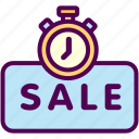 limited, online, sale, sales, shop, timer icon