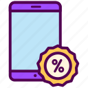 online, sale, sales, shop, smartphone icon