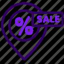 location, map, online, sale, sales, shop icon