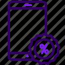 discount, online, sales, shop, smartphone icon