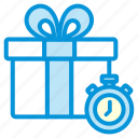 gift, limited, online, sales, shop, time icon