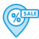 location, map, online, sale, sales, shop icon