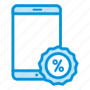 discount, online, sales, shop, smartphone icon