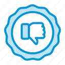 down, online, sales, shop, thumbs icon