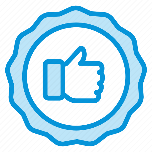 label, online, sales, shop, thumbs, up icon