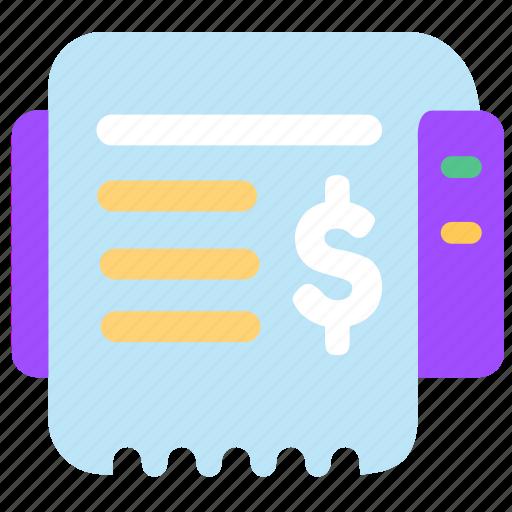 ecommerce finance online print receipt sales shop icon