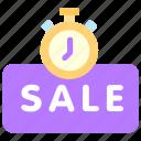 online, sale, sales, shop, time icon