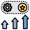 improvement, incentive, motivate, performance, reward icon