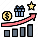 bonus, incentive, motivate, prize, reward icon