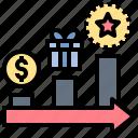 incentive, motivate, prize, reward, strategy icon