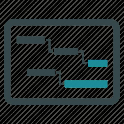 analytics, diagram, gantt chart, plan, process, progress, statistics icon