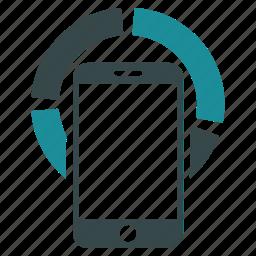 analytics, chart, diagram, mobile, report, segment, smartphone icon