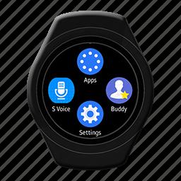 android, galaxygears2, korea, samsung, smart, watch icon