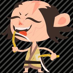 asian, avatar, bandit, burglar, character, japan, japanese, kimono, man, mascot, ninja, samurai, team member, thieve icon