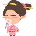 asian, avatar, character, edo, geisha, girl, guard, japan, japanese, kimono, mascot, ninja, princess, rich, samurai, team member, woman icon