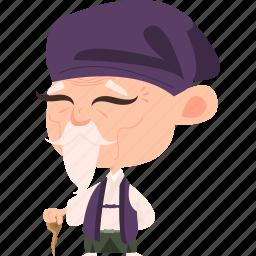 asian, avatar, character, elderly, japan, japanese, kimono, man, mascot, mature, ninja, old, samurai, team member icon