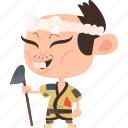 asian, avatar, character, farmer, japan, japanese, kimono, man, mascot, ninja, samurai, team member icon