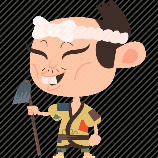 asian, avatar, character, farmer, japan, japanese, kimono, man, mascot, ninja, samurai, team member icon