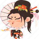 asian, avatar, character, geisha, girl, japan, japanese, kimono, mascot, ninja, princess, rich, samurai, team member, woman icon