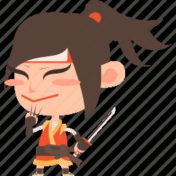 asian, avatar, character, guard, japan, japanese, katana, kimono, kunoichi, man, mascot, ninja, samurai, soldier, sword, team member, warrior icon
