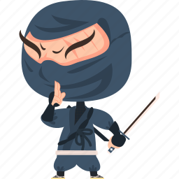 asian, avatar, character, guard, japan, japanese, katana, kimono, man, mascot, ninja, samurai, soldier, sword, team member, warrior icon