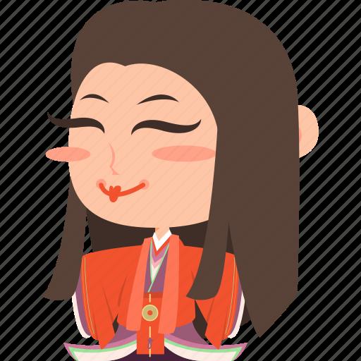 asian, avatar, character, geisha, girl, guard, japan, japanese, kimono, mascot, ninja, princess, rich, samurai, team member, woman icon