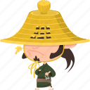 asian, avatar, character, guard, hat, japan, japanese, kimono, man, mascot, ninja, ronin, samurai, team member, warrior icon