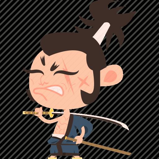 asian, avatar, character, guard, japan, japanese, katana, kimono, man, mascot, ninja, ronin, samurai, scarf, soldier, sword, team member, warrior icon