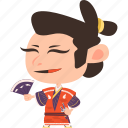 asian, avatar, character, fan, guard, japan, japanese, kimono, man, mascot, ninja, samurai, team member, warrior icon