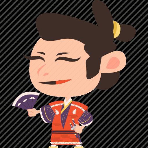 asian, avatar, character, fan, guard, japan, japanese, kimono, man, mascot, ninja, samurai, team member, warrior icon